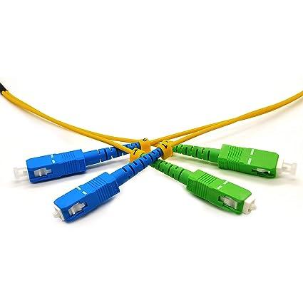 Amazon.com: Cable de conexión de fibra óptica SC UPC a SC ...