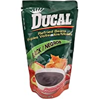 Ducal Refried Black Beans 8 oz - Frijoles Negros Refritos (Pack of 6)