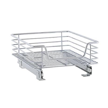 Amazon.com: Household Essentials Sliding Chrome Cabinet Organizer ...