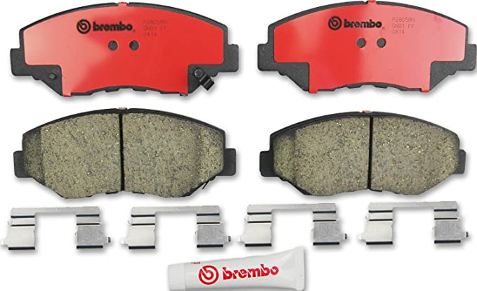 For Acura RSX Honda Accord Suzuki Rear Brake Pad Set Ceramic /& Clips Brembo