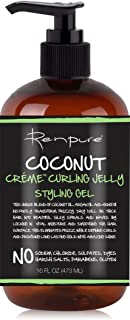 product image for RENPURE Creme Curling Jelly Styling Hair Gel, Coconut 16 Fl Oz