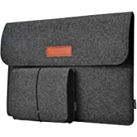 Dodocool Laptop Sleeve12 Inch Felt Sleeve Case Protective Bag w/ Mouse Pouch (Dark Grey)