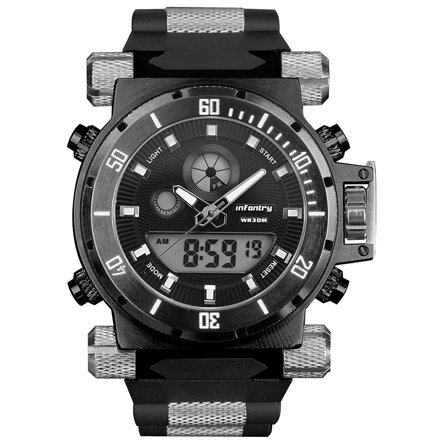 and watches chrono u boat dial chronograph black orange watch pvd product flightdeck