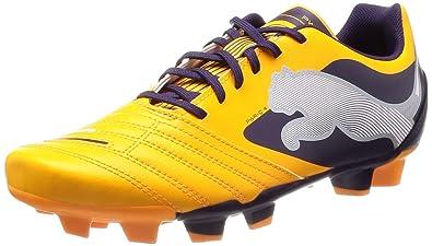 PUMA Powercat 4 FG Boys Soccer Boots Cleats-Orange-5 a3239ef43