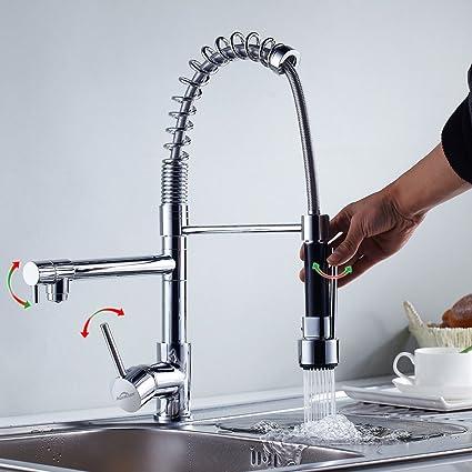 Auralum® Monomando Grifo de Cocina Agua Fría Y Caliente Grifos para ...