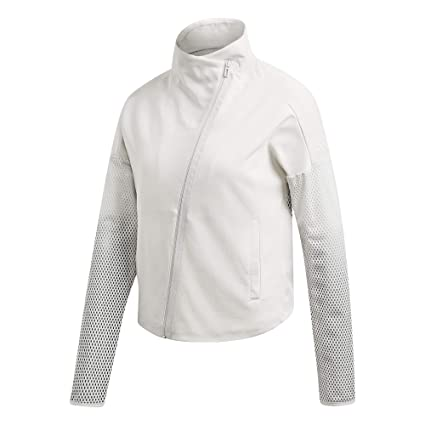 Dunkelgrau Jacken Wei/ß adidas Damen Heartracer Summer Trainingsjacke