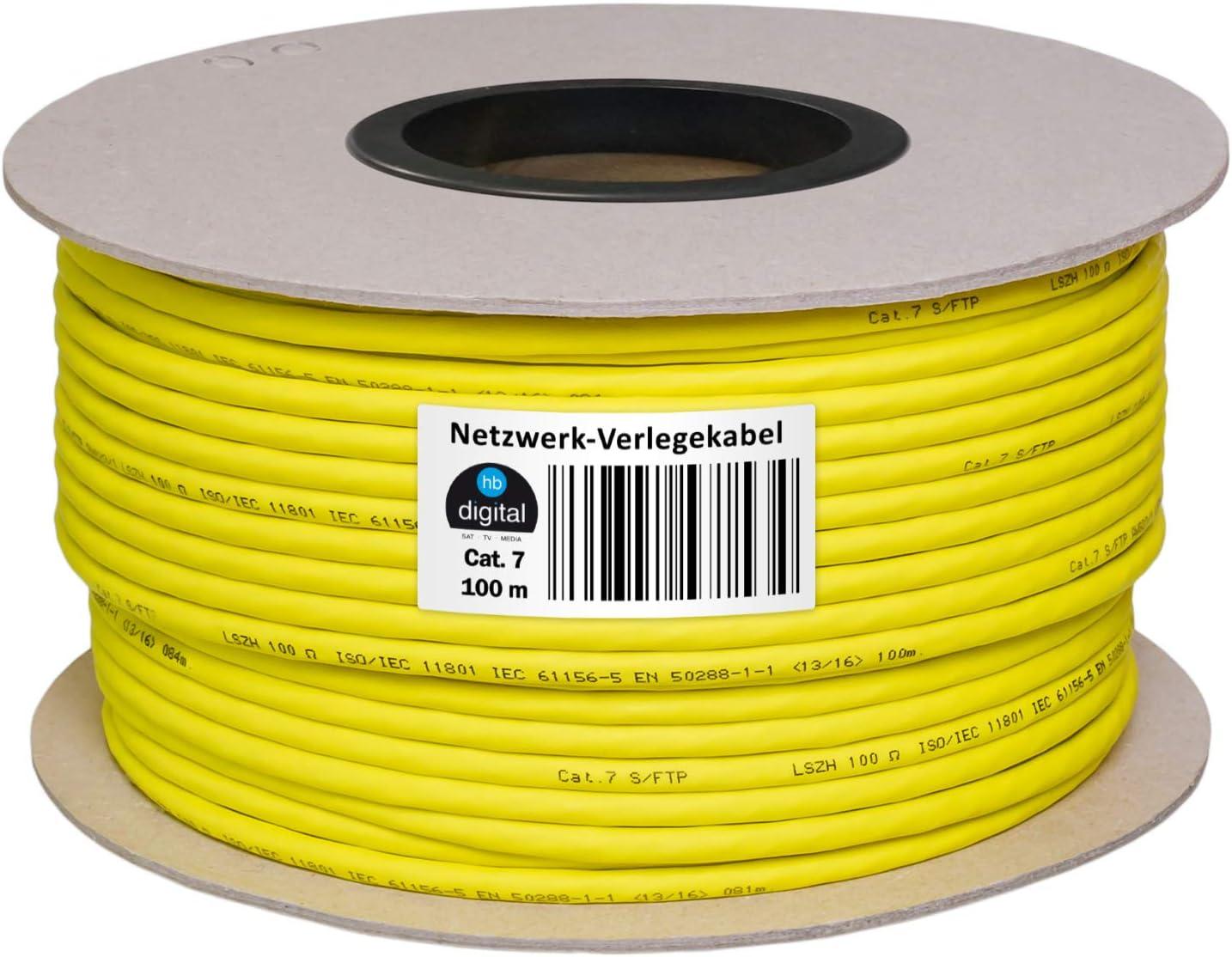 Cable de red digital HD LAN cat5sh – Cable de categoría 7 de cobre AWG 23/1 Profi LAN Kabel 100 m: Amazon.es: Electrónica