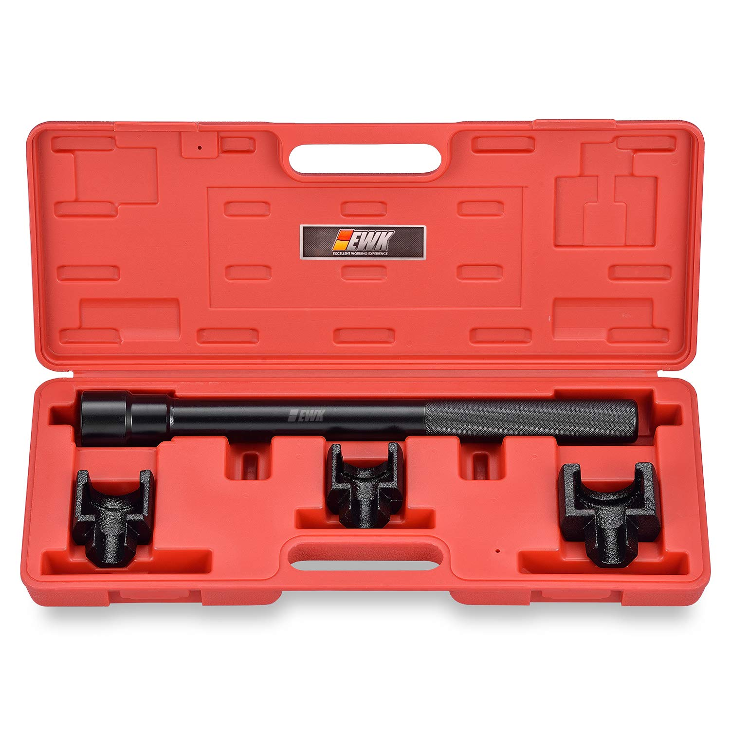 EWK Dual Inner Tie Rod Removal Tool Set with 3 Adapters 1-3/16 1-5/16 1-7/16 Inch for GM Ford Chrysler by EWK