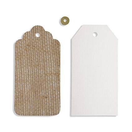Spellbinders Platinum Etiqueta, de máquina de Escribir it Contour diseño de, marrón