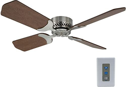 RecPro RV Ceiling Fan   12V   36″ Brushed Nickel Finish   4 Blades   Includes Switch Cherry