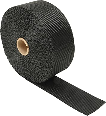 "DEI Black Titanium Heat Exhaust Wrap /& Stainless Steel Ties Kit 2/""x100FT Roll"