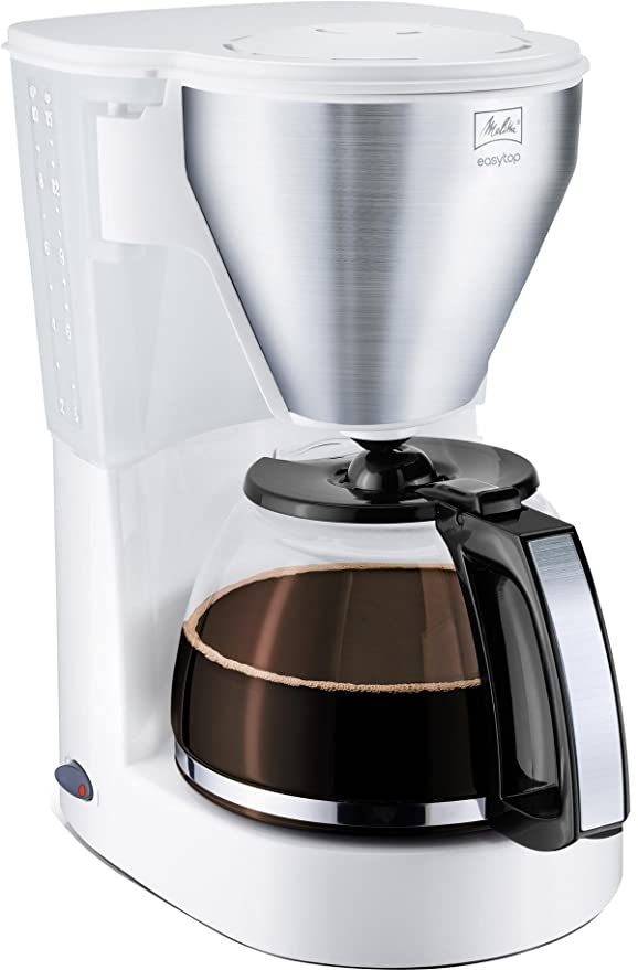 Melitta Easy Top - Cafetera (Independiente, Color blanco, Goteo, De café molido, Manual, 1050W)
