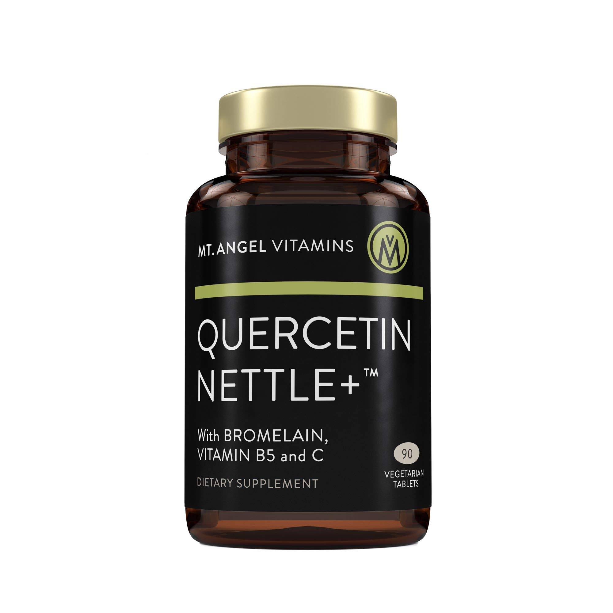 Mt. Angel Vitamins - Quercetin Nettle+, Natural Supplement for Sinus and Nasal Health, Seasonal Discomfort and Healthy Histamine Levels, Supports Immune System (90 Vegetarian Tablets)