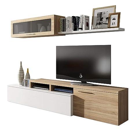 Habitdesign - Mueble de salón Comedor Moderno, Medidas ...