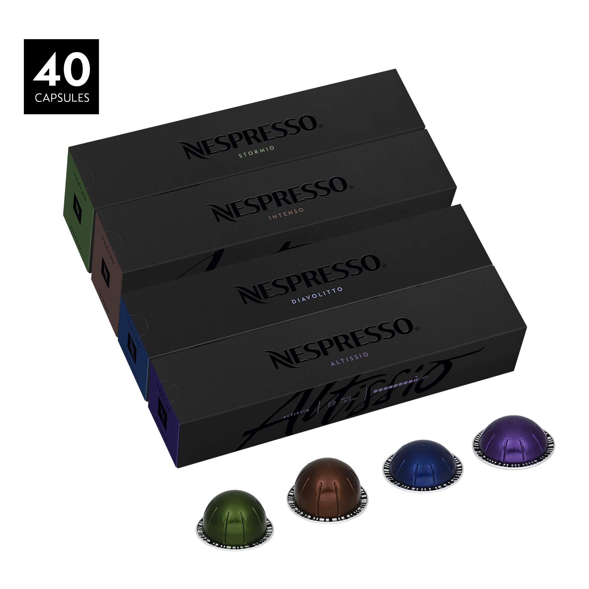 Nespresso VertuoLine Dark Assortment, 40 Capsules by Nespresso