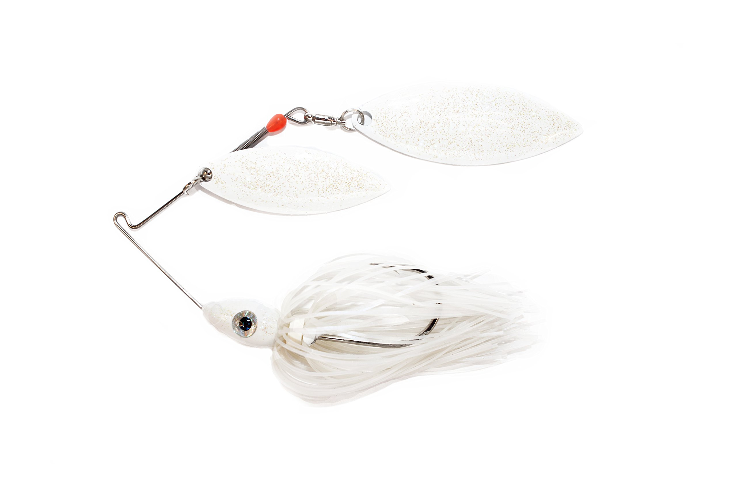 Nichols Lures Pulsator Metal Flake Double Willow Spinnerbait, Blue Shad/White, 3/8-Ounce by Nichols Lures