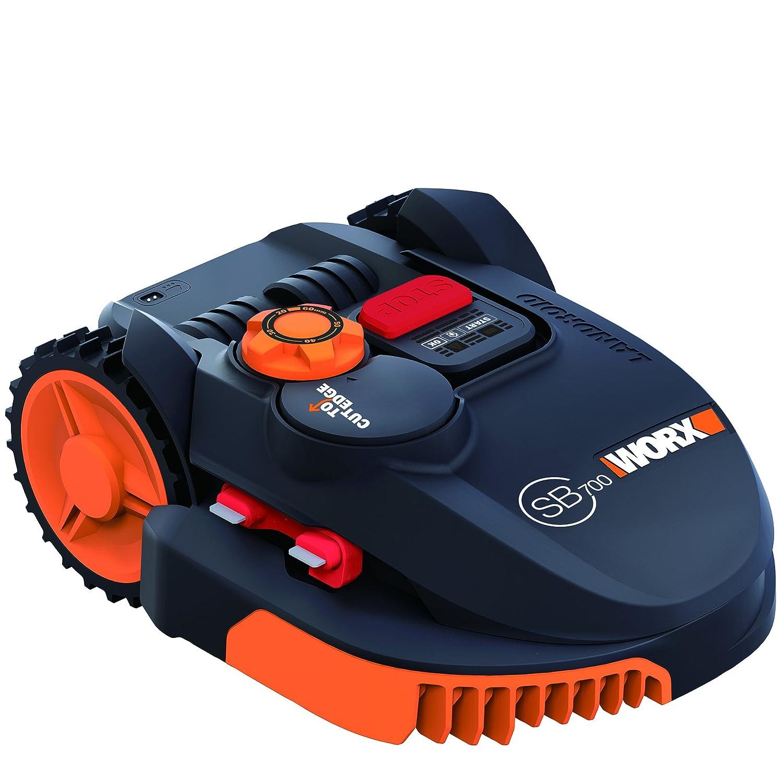 Worx wr110mi Robot tondeuse Landroid, 36W, 20V, noir orange, 700M²