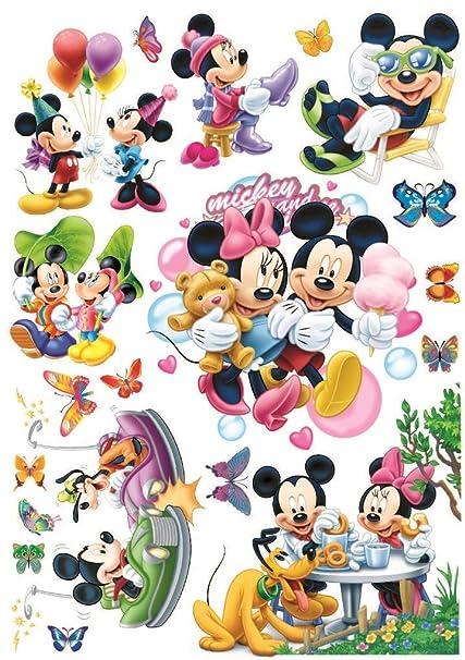 Adesivi Murali Minnie E Topolino.Adesivi Murali Topolino Bambini Ragazzo Piccola Principessa Adesivi Murali Camera Da Letto Arredamento Camera Da Letto Mickey Mouse Wall