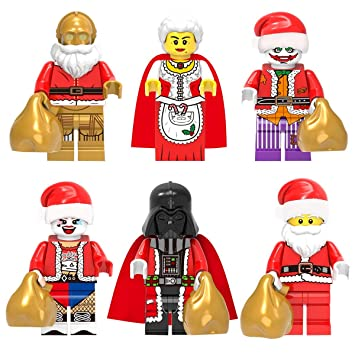 Lego Sack amazon com senta claus minifigure figures santa with