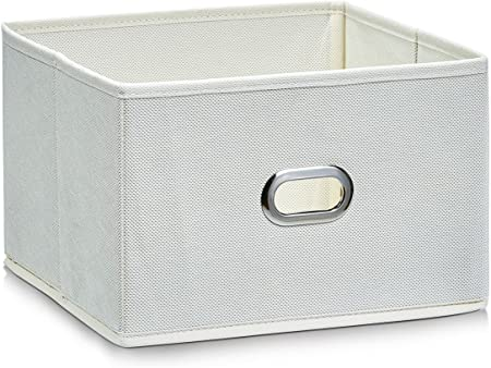 Zeller 14401 - Caja de almacenaje de tela, plegable, 24 x 23 x 16 ...