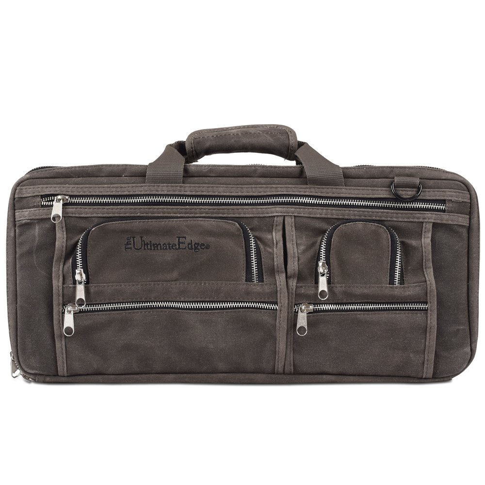 The Ultimate Edge 3 Section Knife Bag Deluxe - Smoke Gray