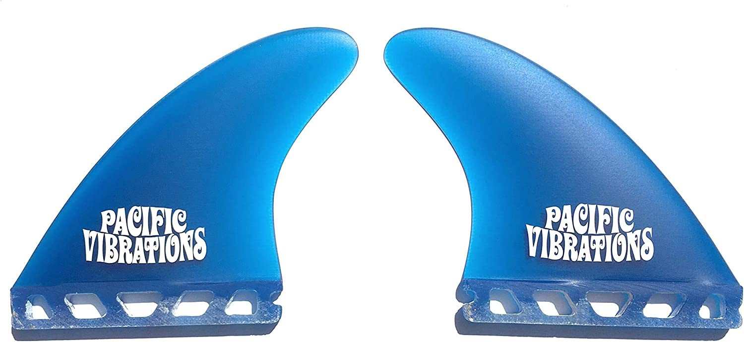 PACIFIC VIBRATIONS Futures Surfboard Longboard FINS Modern Performance 4.6 Side Bites Futures