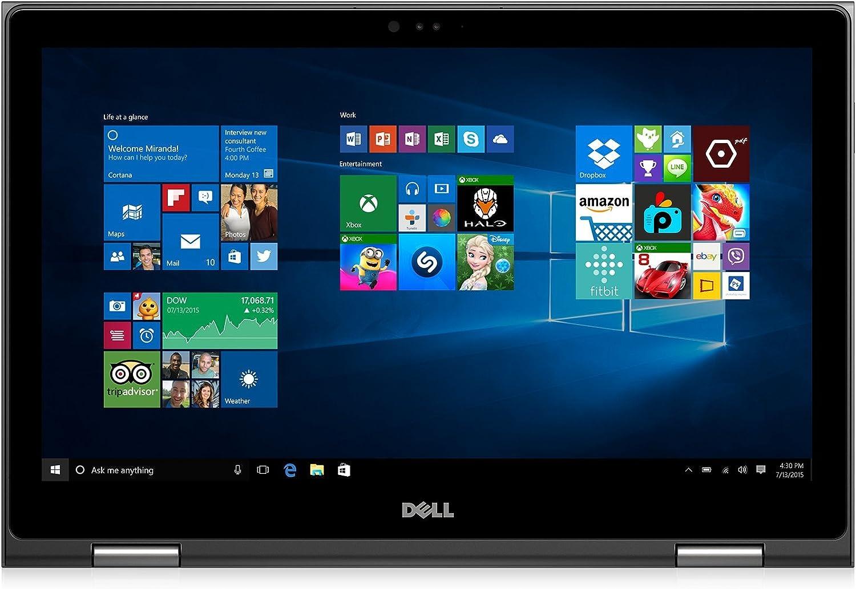"""Dell i5568-5240GRY 15.6"""" FHD 2-in-1 Laptop (Intel Core i7-6500U 2.5GHz Processor, 8 GB RAM, 1 TB HDD, Windows 10) Gray"""