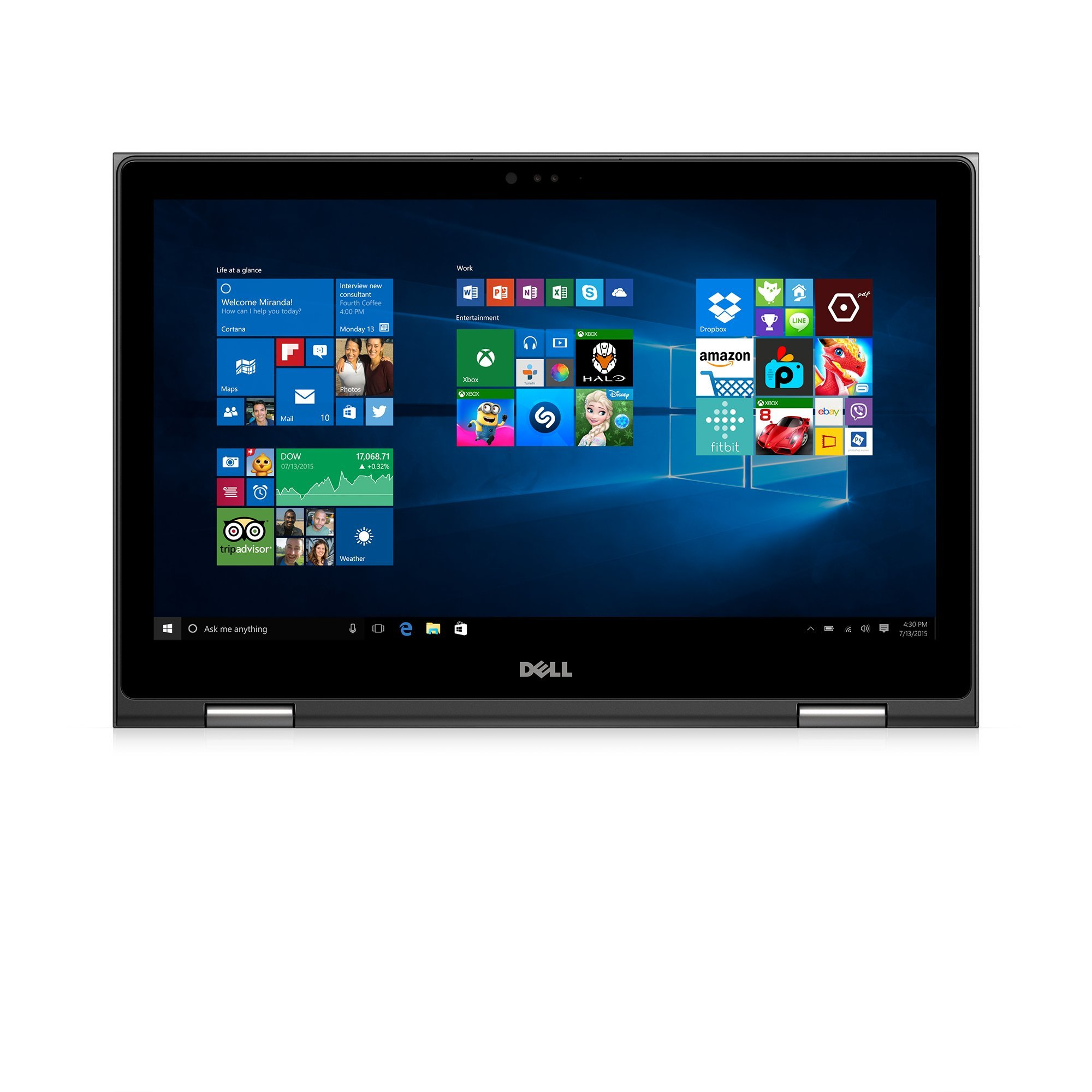 Dell i5568-7477GRY 15.6-Inches FHD 2-in-1 Laptop (Intel Core i7-6500U 2.5GHz Processor, 16 GB RAM, 256 GB SDD, Windows 10) Gray