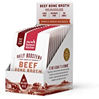 The Honest Kitchen Daily Boosts: Instant Beef Bone Broth Liquid Treat with Turmeric for Dogs and Cats, 12-Pack of 3.5g…