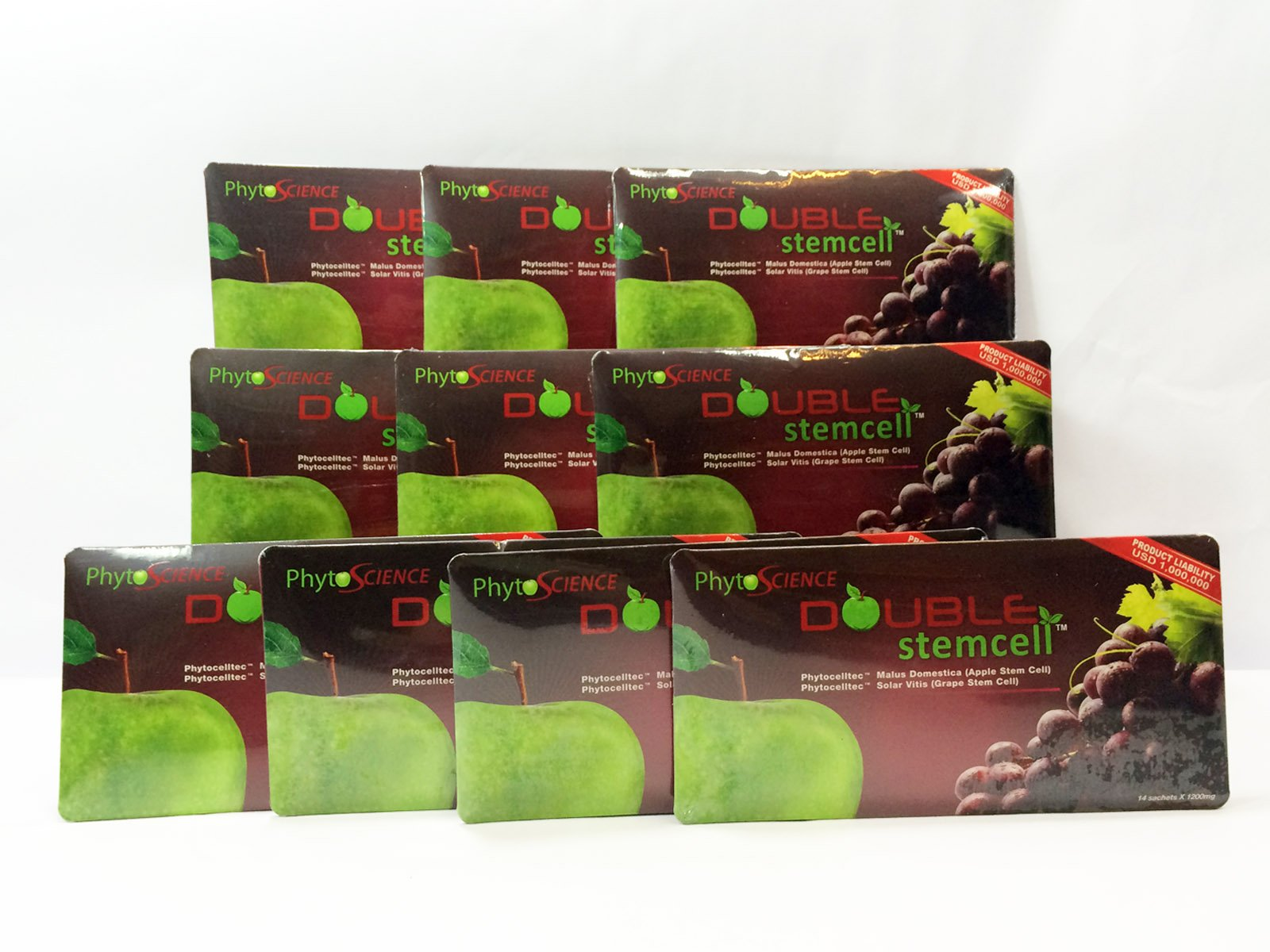 Phytoscience PhytoCellTec Apple Grape Double StemCell stem cell - Best Health Anti Aging Antioxidation Skin Care and Weight Loss - 11 Pack ( 154 Sachets ) Swiss Quality Formula