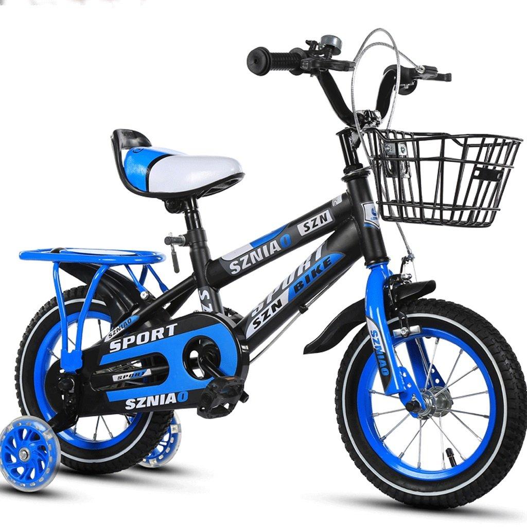 子供男性と女性のベビーカーの学生車12/14/16/18/children自転車2-10歳 (色 : 青, サイズ さいず : 20 inches) B07DCGX887 20 inches 青 青 20 inches
