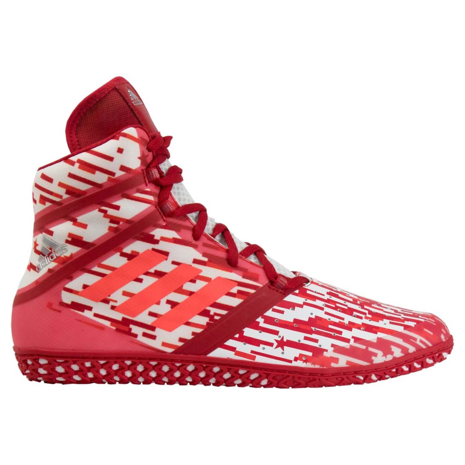 adidas Impact Men's Wrestling Shoes, Red Digital Print, Size 10 by Adidas