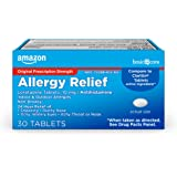 Amazon Basic Care Allergy Relief Loratadine Tablets 10 mg, 30 Count, White