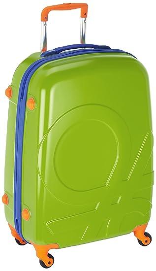 Benetton - Maleta Con Ruedas, color verde lima, 85 L: Amazon.es: Equipaje