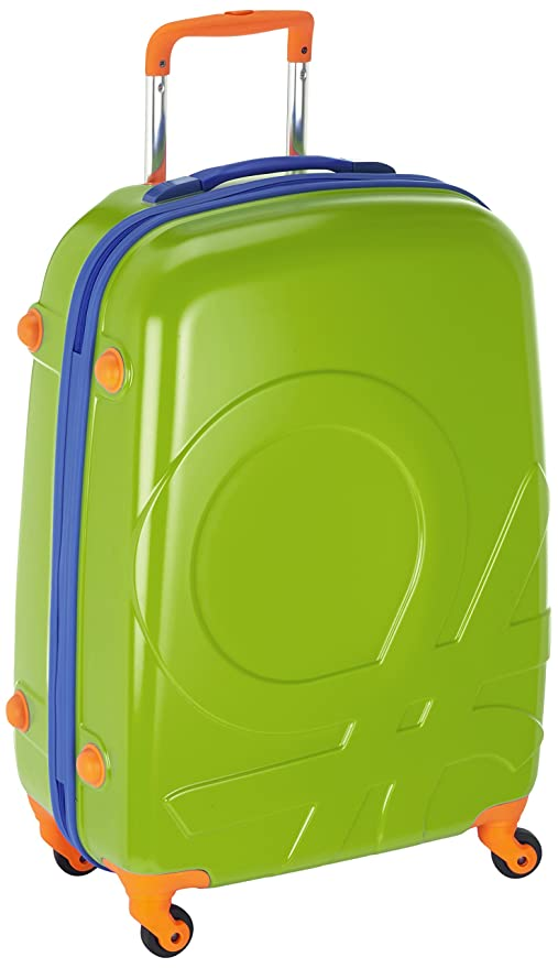 Benetton - Maleta Con Ruedas, color verde lima, 85 L: Amazon ...