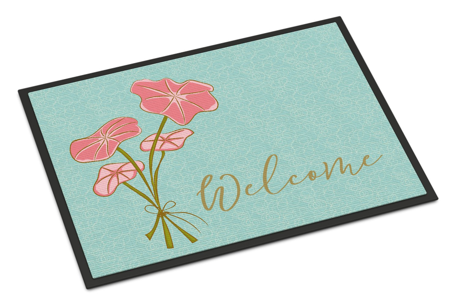 Caroline 's Treasures Bunch of Flowers Welcomeドアマット、18