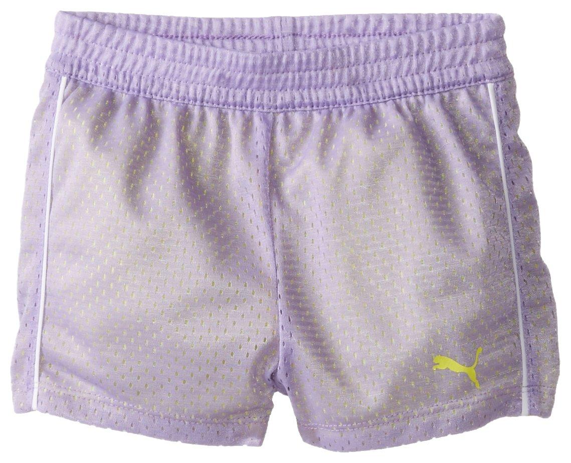 PUMA Toddler Girls' Active Double Mesh Short, Winner Lilac, 3T