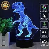 Dinosaur 3D Night Light - Dinosaur Gifts - 3D Dinosaur Light - 3D Led Lamp - T Rex Dinosaur - Acrylic Lamp - 3D Christmas Lights - Optical Illusion Led Light