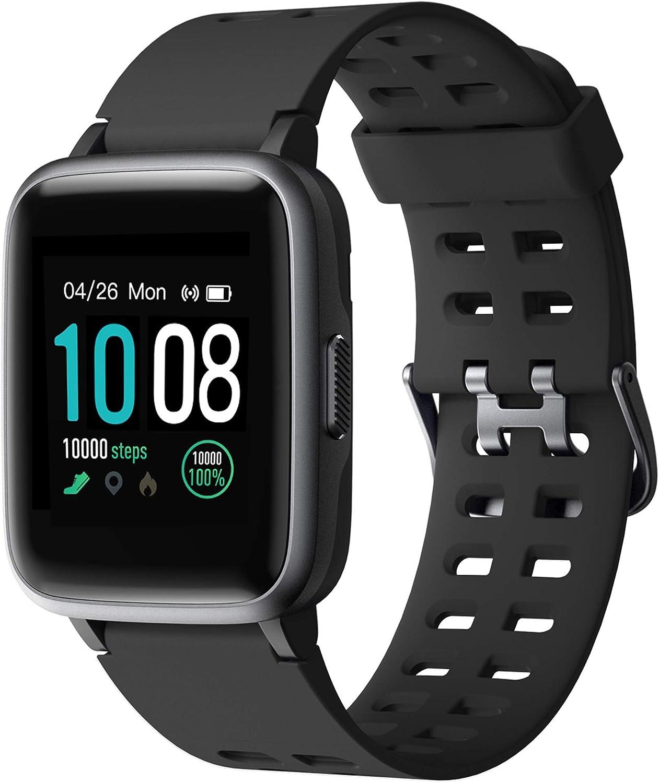 【2019 Más Nuevo】GRDE Reloj Inteligente, Bluetooth V5.0 Smartwatch Deportivo Impermeable 5ATM con Pantalla Completa Táctil Monitor de Ritmo Cardíaco y...