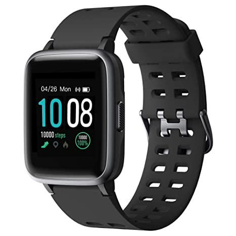 GRDE 2019 Version Smart Watch for Android iOS Phone, Fitness Tracker IP68 Waterproof Health Exercise Smartwatch with Heart Rate Monitor Sleep Tracker ...