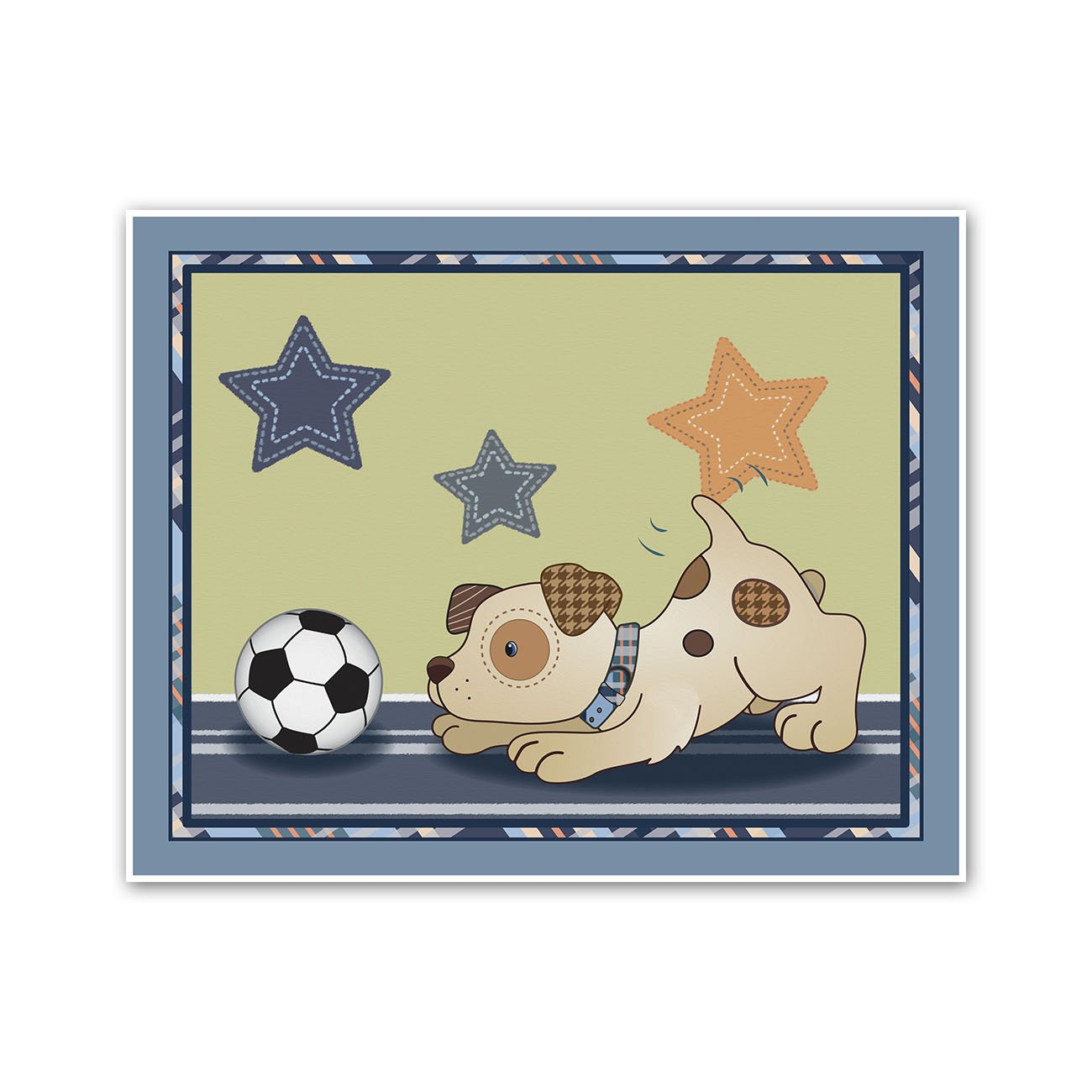 Amazon.com: Bow Wow Puppy Buddies. Dogs and Sports Nursery Wall Art ...