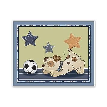 Amazon.com: Bow Wow Puppy Buddies. Dogs and Sports Nursery Wall Art ...