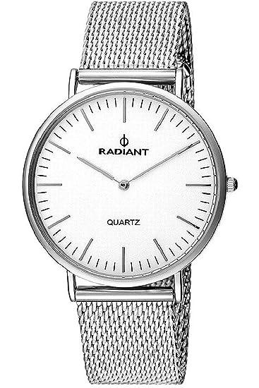 Reloj RADIANT Sunny RA377601 Unisex Malla milanesa Plateado: Amazon.es: Relojes