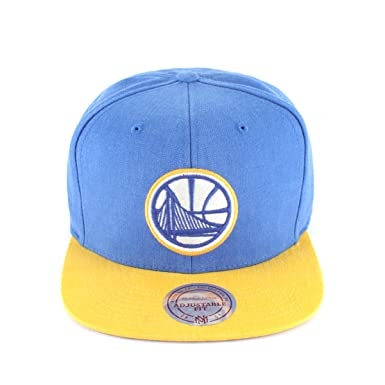Mitchell   Ness Golden State Warriors Snapback Cap - Royal-Yellow Adjustable ed01732b5789
