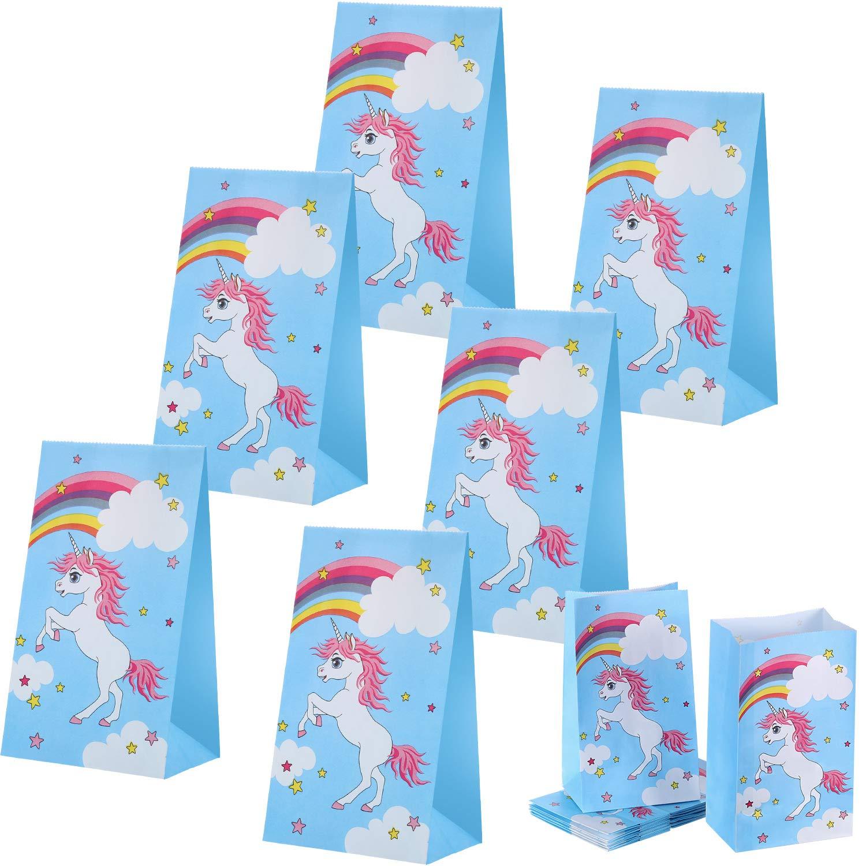 30 Pezzi Borse per Unicorno Borse per Bomboniere Regali Bomboniere Decorazioni per Bambini Compleanno Blulu