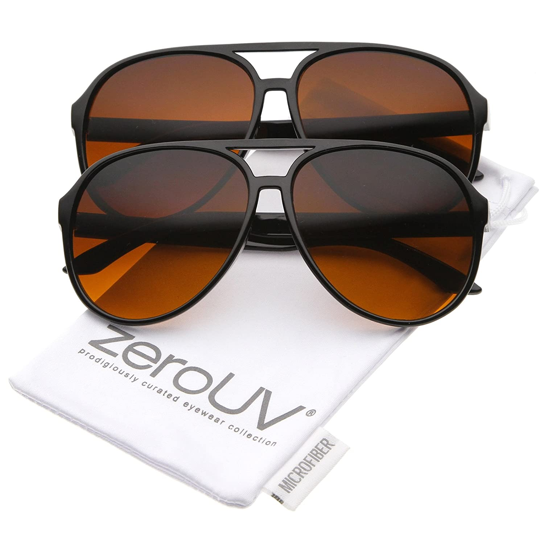 f5724329e8 Amazon.com  Retro Large Blue Blocking Lens Aviator Sunglasses 60mm (2-Pack