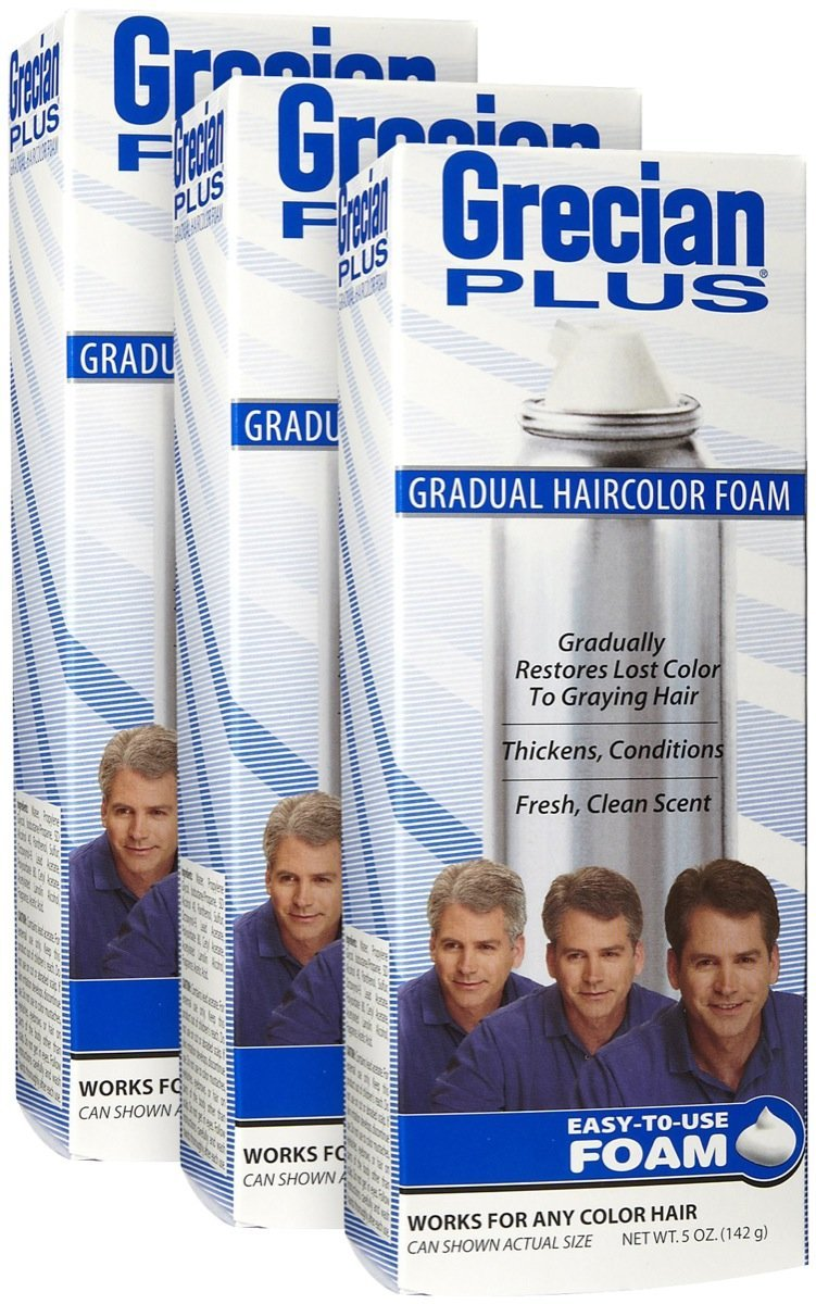 Grecian Formula Gradual Hair Color Foam, 3 pk