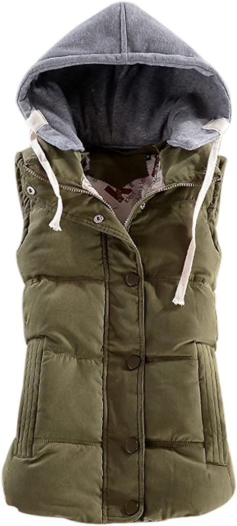 FORUU Fashion Women Men Puffer Vests Trendy Comfy Casual Couple Solid Plus Size Warm Wadded Sleeveless Jacket Coat