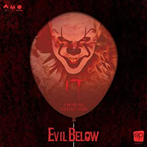 IT Evil Below Cooperative Dice Game | Officially Licensed IT Chapter 1 Board Game & Merchandise | Defeat Pennywise & Save Derry, Maine | Based on The IT Movie Franchise