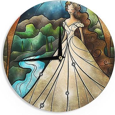 """KESS InHouse KESS Original """"Seaweed Bubbles"""" Wall Clock, 12"""""""